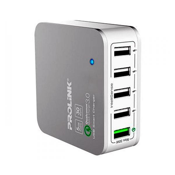 CHARGER PROLINK USB 5-PORT 30W SMART WITH INTELLISENSE PDC53001