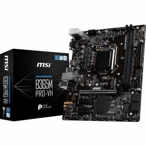 MSI B365M PRO-VH DDR4 8th/9th Generation LGA1151 Socket Motherboard
