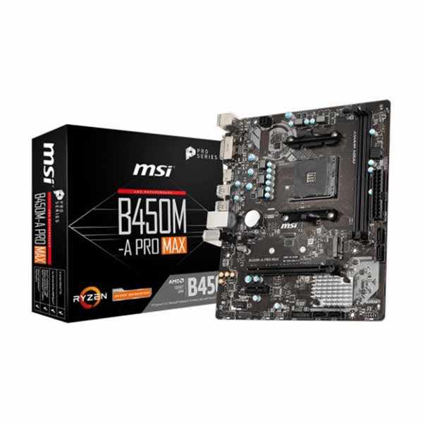 MSI B450M-A Pro Max DDR4 AMD AM4 Socket Motherboard